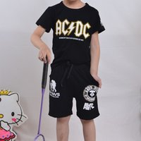 Wholesale Clothing Fashion Boy Kid - Little Boy Kids Clothing Letter Graphic T-Shirt Printing Short Sleeve Round Neck Cute Number Geomet Graphic Cotton Black Fashion Leisure