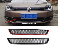 spoiler jetta - Front Bumper Lower Air Guide Vents Grille Car Spoiler For VW Jetta MK6 Grills