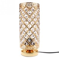 Wholesale Crystal Table Lamp Vintage - Modern Table Lamp crystal Bedside Desk Light Home Shade Lighting Glass Bedroom