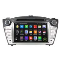 Wholesale Ix35 Camera - Fit for hyundai TUCSON IX35 2009-2012 Android 5.1.1 OS 1024*600 HD car dvd player gps radio 3G wifi bluetooth dvr OBD2 FREE MAP AND CAMERA