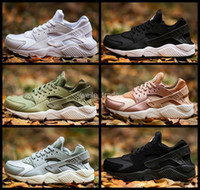 Wholesale Black Lace Rose - 2017 New Air Huarache I Running Shoes For Men Women,Green White Black Rose Gold Sneakers Triple Huaraches 1 Trainers huraches Sports Shoes