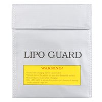 rc lipo battery großhandel-Großhandels-RC LiPo Batteriesicherheitstasche Safe Guard Charge Sack 22 * 18 cm Silber