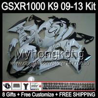 Wholesale Corona 12 - 8gifts For CORONA white SUZUKI GSXR1000 09 10 11 12 13 GSXR-1000 12MY69 GSX R1000 K9 GSXR 1000 2009 2010 2011 2012 2013 CORONA white Fairing