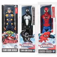 Wholesale Marvel Action Figures Spiderman - The Avengers PVC Action Figures Marvel Heros 30cm Iron Man Spiderman Captain America Ultron Wolverine Figure Toys OTH025