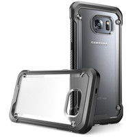 Wholesale Transparent Frame Purple - SUPCASE Armor Shockproof Clear Case For Samsung Galaxy S7 S7 Edge Cover Back Housing Transparent Soft TPU Frame Hard PC Shell