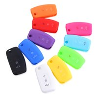Wholesale Auto Remote Keys - Fold style 10pcs wholesale Silicone car key cover remote cover for Ford auto accessories key cover
