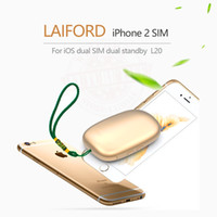 Wholesale Dual Sim Adapters For Iphone - 2017 Bluetooth Dual 2 Sim Dual Standby Extend SIM Adapter V8 LAIFORD GoodTalk S No Jailbreak for iPhone5-7  iPod 6th iOS 10.3