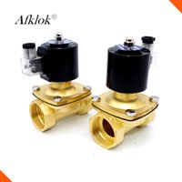 Wholesale Gas Solenoid Valve - 2W-160-10 3 8 inch 16mm Brass low pressure direct acting diaphragm shutoff 220v ac water solenoid valve