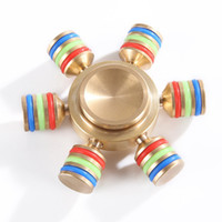 Wholesale brass puzzles - in stock Luminous Tri Fidget Hand Spinner Triangle Torqbar Brass Puzzle Finger Toy EDC Fidget Handspinner ADHD Austim Learning toys 2017