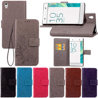 Wholesale xperia flip case - Luxury PU Leather Wallet Flip Case For Sony Xperia X Performance Case Shockproof Cover XA Z3 XZ Core Prime Matte Spin Card Phone Case
