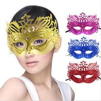 mascarilla de polvo de oro al por mayor-Máscaras de disfraces sexy de Halloween máscaras de polvo de oro Máscaras venecianas de media cara para Navidad Cosplay Party Night Club / Máscaras de ojos de bolas