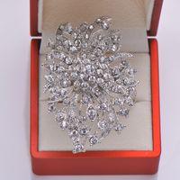 vernickelte ringe großhandel-Wholesale- (L0340-ring) Freies Verschiffen 50pcs / lot Rhinestone-Serviettenringe für Hochzeitstafeldekoration, Nickel oder helle rosafarbene Vergoldung