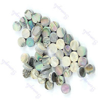 Wholesale Guitar Dot Inlay - Wholesale- 50 Pieces 6mm Colorful Abalone Inlay Material Dots Guitar Parts