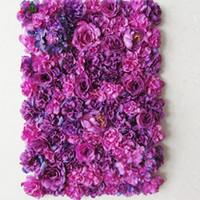 ingrosso fondali di fiori-matrimonio romantico fiore parete per palcoscenico o sfondo fiore artificiale decorazione floreale ortensia rosa fiore LLFA