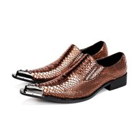 Wholesale formal design leather shoes - Fashion New Men Shoes Design Wedding Shoes Flats Italian Oxfords Formal Metal Tip Pointed Toe Plus Sze 38-47 Chaussure Homme