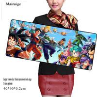 almofadas de borracha anti skid venda por atacado-Dragon Ball 90X40CM oversized mouse pad preto precisão borda de borracha de borracha anti-skid notebook final jogo de computador teclado tapete de mesa