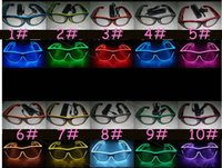 Natal LED Party Glasses Moda Almofada de vidro Aniversário Festa de Halloween Bar Fornecedor decorativo Luminous Glasses Eyewear free shipping