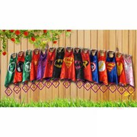 Wholesale Baby Spiderman Costumes - Superhero capes baby kids cosplay party Single layer cape L70*W70cm Halloween Batman Spiderman Costumes clothing
