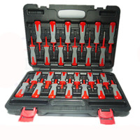 Wholesale Audio Harness - MADE IN TAI WAN 25 Pcs Harness terminal removal tool Titanium Alloy Anti-Skidding Audio & Navigation Terminal Remover