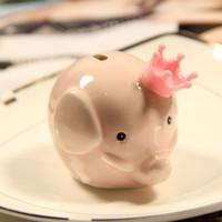 rosa elefanten geschenke großhandel-Cartoon Sparschwein Rosa Elefant Spar-boxen Europäischen Stil Münze Spardose Für Kinder Spiel Preise Hochzeitsgeschenk 4 5hl C R