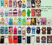 Wholesale Case Cover Minnie Iphone - 51 patterns Cute Cartoon minnie Stitch Phone Silicone Case Soft Cover Se 6S i7 For samsung goophone S8 iPhone 6 i7 8 Plus