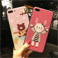 Wholesale Full Wrestling - For iphone7 plus cell phone cases with iphone6s Full parcel anti - wrestling relief ultra - thin couple cartoon protective cover free ship