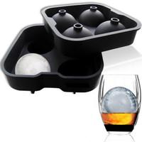 ... 4 Enrejado de Forma Redonda Fabricante de Hielo Molde Para Whisky Bolas  de Hielo Bandejas de Forma de Esferas Redondas de Cubo de Herramientas  Premium 0878ac0fc3e31