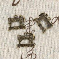 Wholesale Sewing Pendants - Wholesale- 99Cents 8pcs Charms sewing machine 20*17mm Antique Making pendant fit,Vintage Tibetan Bronze,DIY bracelet necklace