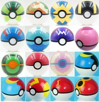 Wholesale Poke Cosplay - 7CM Poke Ball Toys Pokeball Types 21 styles Poke Cosplay Pop-up Master Great Ultra GS Gift Kid Children