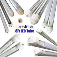 ampoules led pour luminaires achat en gros de-Ampoule 72W 7200LM 45W 4500LM de tube de R17D FA8 8FT LED à double face en forme de v intégrée aux appareils d'éclairage à LED de 8 pieds T8