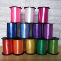 Wholesale plum tie - Ribbon wedding supplies balloon accessories Ribbon Ribbon tied rope 240 meters