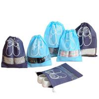 toz örtüsü için kumaş toptan satış-dokunmamış kumaşlar ayakkabı saklama çantası yeni sevimli seyahat taşınabilir toz kapağı kalınlaşmak kullanımlık İpli gardırop saklama torbaları ambalaj çanta