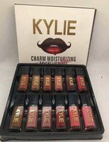 Wholesale Bright Charms - NEW MAKEUP KYLIE CHARM MOISTURIZING BRIGHT LIPGLOSS MATTE Non-stick Cup 12 COLOR free shipping DHL