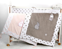 Wholesale Cheap Girls Comforters - Cotton comforter cover baby velvet quilt applique 115*90cm toddler girl boy crib beddding cartoon cheap cot quilts