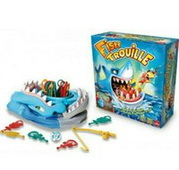 Wholesale Plastic Mouth Gag - Fish TROUILLE Large Shark Mouth Bite Finger Game Prank Funny Novelty Gag Fishing Toy for Kids Children Play Fun a Grumpy Friend