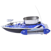 Wholesale Rc Boats Fishing - Mini RC Fishing Adventure Lure Bait Boat with EU Plug for Finding Fish