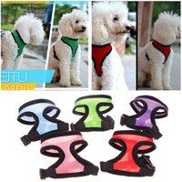 Wholesale Comfort Sets - Adjustable Comfort Soft Breathable Dog Harness Pet Vest Rope Dog Chest Strap Leash Set Collar Leads Harness