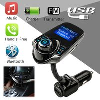 Barato Rádio Estilo Carro-2017 Novo T10 Wireless Bluetooth Car Kit Handsfree Radio FM Transmissor Suporte TF Cartão U Disco MP3 Player Carregador de carro Car styling