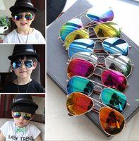 Wholesale Kids Girls Aviator Sunglasses - New Fashion Unbreakable Safe Light Boys Kids Children's sunglasses UV400 Aviator Style Brand Design Children Sun Glasses