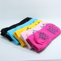 Wholesale Wholesale Polka Dot Socks - 5 Colors Brand New Womens Cotton Yoga Sport Socks 2017 Wholesale Retail Pilates Ankle Socks 5 Pairs=10 Pieces Anti Slip Gym Exercise
