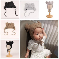 Wholesale Hundreds Clothing Wholesale - Hat Newbor Caps Photography Cotton Girls Boys Baby Antlers Hundred Days Baby Photo Modeling Clothes Handmade Hat Studio Props Free Shipping