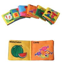Wholesale Children Cloth Books - Baby Toys 0-12 Months Baby Books English Language Rattles Infant Crib Cloth Educational Kids Toys for Newborns Children b993