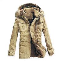 Wholesale mens slim fit down coat - Wholesale- Plus Size 5XL Winter Thick Coat Men Cotton Fur Collar Russian Winter Long Parkas Mens Slim Fit Fashion Outcoat Warm Snow Jackets