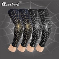 Atacado - 1 Pcs Elastic Quick Dry Sports Safety Cotovelo Pad Arm Warmers Ciclismo Basketball Long Arm Sleeve Codo Protetor de suporte