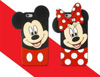 Wholesale Case Cover Minnie Iphone - 3D Minnie and Mickey Mouse Cell Phone Case Cartoon Mobile Phone Case Silicone Phone Covers for 7 Plus S8