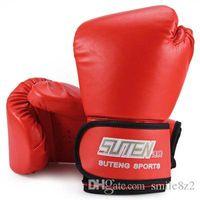 Wholesale kickboxing gloves - 3 Colors SUTEN 1 Pair Boxing Gloves Mitts PU Leather Mitten Boxing Glove Kickboxing Training Boxing Gloves Male Gloves HOT +TB