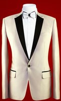 Wholesale Bespoke Suits Men - Wholesale- 2016 Custom Made Men Suit, Tuxedos Suits For Men BESPOKE Champagne Tuxedo Groom Wedding Suits Notch Lapel (Jacket+Pants+Bowtie)