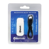 автомобильный аудиоадаптер usb оптовых-Двойной выход USB Беспроводной Bluetooth 3.5 мм музыка аудио автомобиль Handsfree приемник адаптер USB Dongle 3.5 мм стерео музыкальный приемник для динамиков