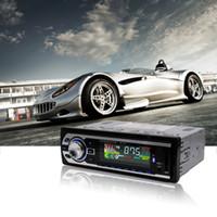 cartão de memória lcd venda por atacado-Carro MP3 Player / Display LCD / 7388 IC / 12 V / HP-2127 Car Radio MP3 Suporte Genuíno USB / SD / Cartão De Memória MMC / FM / WMA / remoto