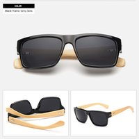 Fashion outdoor bamboo shade - New High Quality UV400 Protection Women Fashion Eyewear Bamboo Frame Sunglasses Beach Outdoor Sunglass UV Protect Shades Sun Glasses dhP
